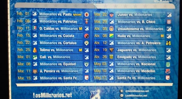 Modificado el Fixture de la Liga